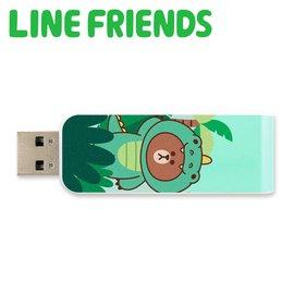 Apacer Line Friends AH334-64GB伸縮隨身碟(熊大鱷魚裝)聯名授權碟