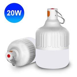智能充電懸掛式LED燈泡 20W USB充電燈泡 LED燈泡 USB燈泡 手電筒 充電式 探照燈 照明燈 手提燈