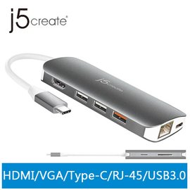j5create JCD384 USB Type-C 10合1擴充基座