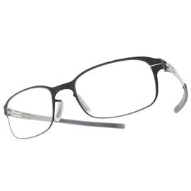 Ic! Berlin 光學眼鏡 BUS 133 AM DACHSBAU TAUBENBLAU PEARL  霧灰藍~銀  德國薄鋼工藝 #金橘眼鏡