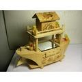aaL皮商旋.少見純手工製木質音樂盒(鴨子版)---提供給需要的人俗俗賣!(6房木箱)-P