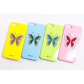【現貨】Comma iPhone SE / 5 / 5S 水晶蝴蝶-施華洛世奇水鑽保護殼 手機殼【容毅】