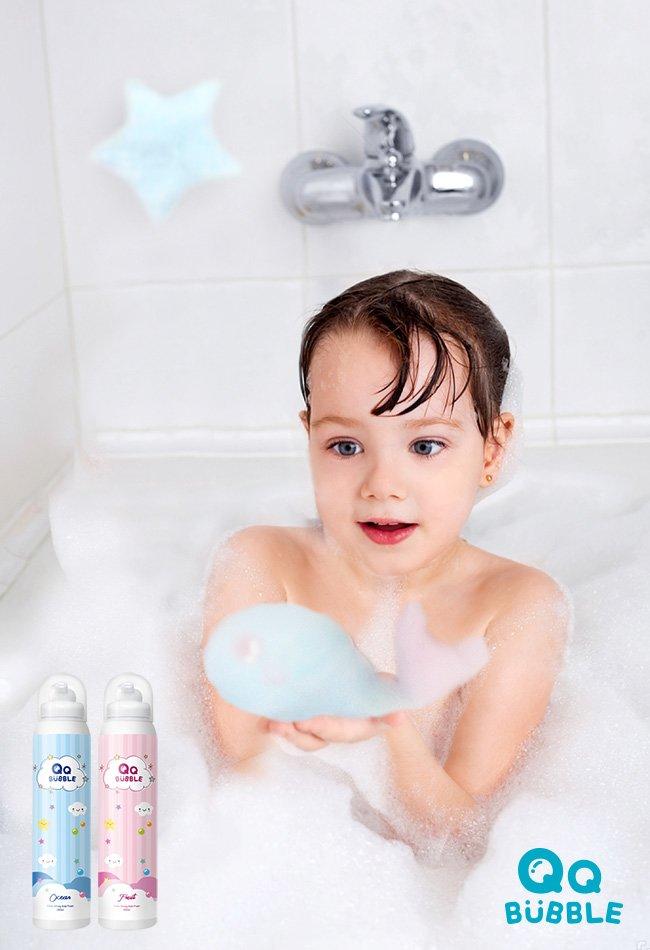 特賣-QQ Bubble 神奇好玩魔法沐浴泡泡慕斯~可以玩的泡泡慕斯(超值2入)果香泡泡粉+花香泡泡紫(SJS19031PV)