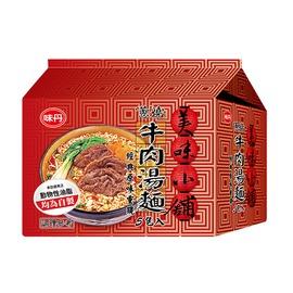 味丹美味小舖蔥燒牛肉風味湯麵72g(5入)/袋