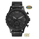 【天龜】 FOSSIL 質感時尚 消光黑大錶徑不鏽鋼三眼計時腕錶   JR1401