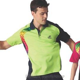 【日本Nittaku】男女吸濕排汗短POLO衫-螢綠#3900(排汗衫)