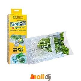 Malldj親子購物網 - 美國 藍蘋果 Bluapple VeggieZips保鮮袋(22入組) #PBE9608019320100