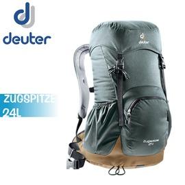 【Deuter 德國 ZUGSPITZE 24L 網架直立式透氣背包《 灰/ 咖啡》】3430116/ 登山背包/ 後背包/ 防雨罩/ 自行車/ 旅行