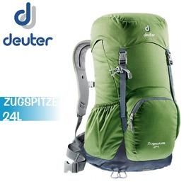 【Deuter 德國 ZUGSPITZE 24L 網架直立式透氣背包《綠/ 灰》】3430116/ 登山背包/ 後背包/ 防雨罩/ 自行車/ 旅行