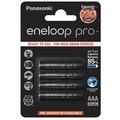 【 限量優惠促銷 】國際eneloop PRO 930mAh 黑鑽款低自放4號充電電池 (1卡/4顆)