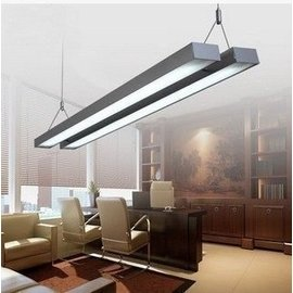 (vivi愛巴黎)新品高檔雙管LED T5 28W辦公吊燈現代鋁材長條燈寫字樓燈具