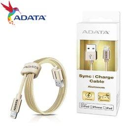 ADATA 威剛 金色 Lightning 2.4A 快充傳輸線長度100CM (AD-CABLE-LT-G)