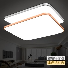 吸頂燈 LED吸頂燈長方形遙控大氣客廳燈具現代簡約臥室燈陽臺燈餐廳燈飾·YTL 米蘭街頭