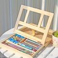 桌面臺式抽屜畫架畫板套裝木制折疊油畫架素描水彩畫架寫生油畫箱YYP 米蘭街頭