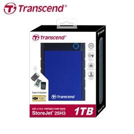 【原廠保固】創見 1TB StoreJet 25H3 USB3.0 2.5吋 藍色 行動硬碟 (TS-25H3B-1TB)