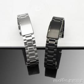 通用不鋼錶帶男 適用卡西歐 西鐵城ck天梭精鋼手錶鍊女18 20mm【全館免運】