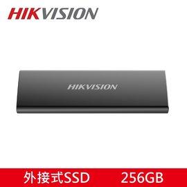 【殺到底↘+免運費↘+贈SSD收納袋】HIKVISION 海康 外接式固態硬碟  T200N 外接SSD 256GB USB3.1 TypeC 霧黑金屬X1...
