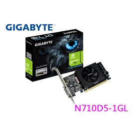 技嘉 N710D5-1GL 顯示卡 GT710 DDR5 DVI-I HDMI PCI-E