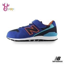 New Balance 996 童鞋YV996TBU 兒童 女鞋 運動鞋 寬楦 復古麂皮 輕量慢跑鞋男童女童 P8483#藍橘◆奧森
