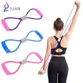 □拉伸磅數再提升!! ILIAN 8字瑜珈彈力繩 運動健身拉力繩□ 手臂、臀部、腿部 S曲線鍛鍊 力量訓練 鍛鍊身體 伸展帶 運動塑形好幫手