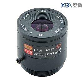 300萬畫素 固定光圈8mm IR純金屬鏡頭 標準型監視器攝影機 3MP CCTV監視器鏡頭 CS Mount CS鏡頭 CS接口攝像機(含郵資) ...
