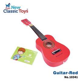 【荷蘭New Classic Toys】幼兒音樂吉他-櫻桃紅 10341
