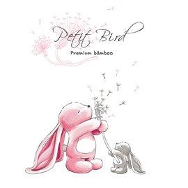韓國Petit Bird竹纖維嬰幼兒防水保潔床墊—粉紅兔(大條)