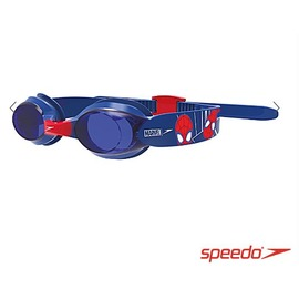 【登瑞體育】SPEEDO 兒童卡通休閒泳鏡 紅x藍/ 蜘蛛人/ 卡通/ 抗紫外線/ 按壓式調整/ 防霧_SD812115F278