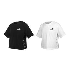 PUMA 女基本系列短版短袖T恤(純棉 休閒上衣 慢跑 路跑 亞規 【03313313】≡排汗專家≡