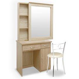 Homelike 艾凡收納化妝桌椅組-梧桐 化妝台 化妝鏡