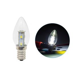 【340106010011】E12頭 0.7W*7 LED SMD 白光 AC110V