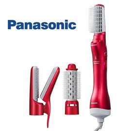 贈化妝包兩入組 SP-2020 Panasonic 國際牌 奈米水離子3件組國際電壓整髮器 EH-KN8C (免運費)