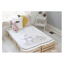 韓國Petit Bird竹纖維嬰幼兒防水保潔床墊—(企鵝家族)-100x130cm(大條)