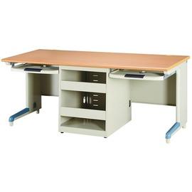 【U15-17】木紋防盜式雙人電腦桌